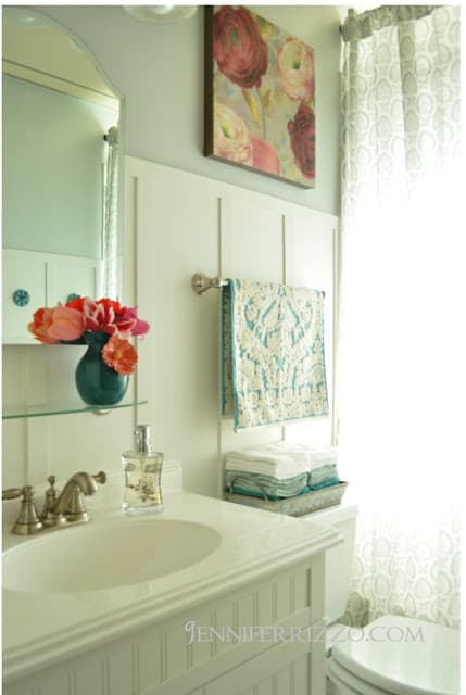 Bathroom Makeover from Jennifer Rizzo.com
