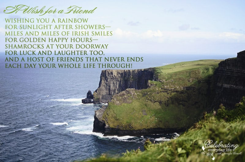 Rainbow Quote, Irish Blessing, A Wish for a friend, Inspiring Quote