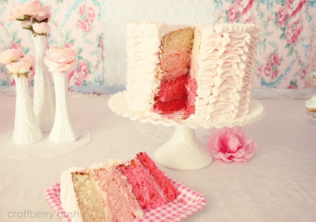 Ruffle Cake from Craftberry Bush