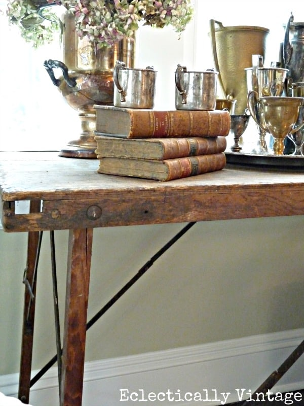 Wallpaper Table from Eclectically Vintage