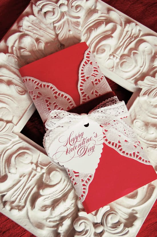 Doily candy bar wrapping project