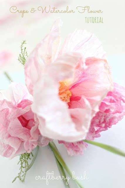 crepe Flower tutorial by Craftberry Bush