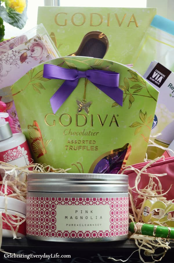 Ultimate Easter Basket Giveaway on Facebook! Soy Candle, Godiva Chocolate Bunny, Godiva Chocolate Truffles