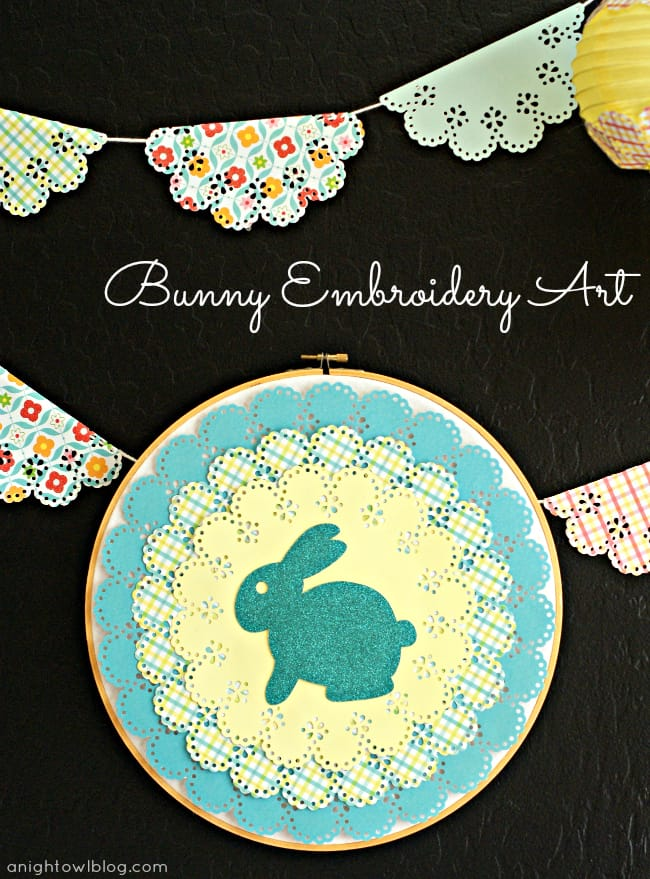 Bunny Embroidery Art with Martha Stewart Crafts by A Night Owl Blog
