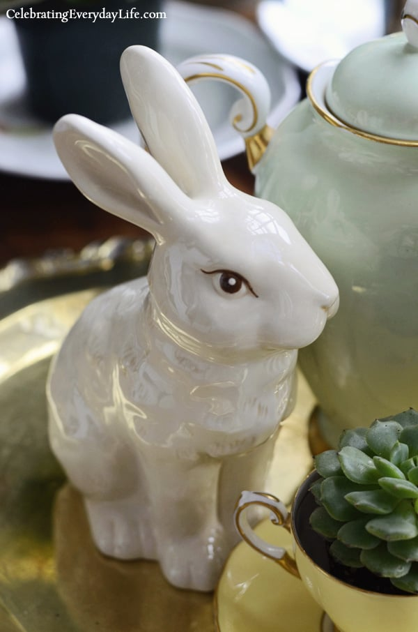 porcelain rabbit figurine from Target