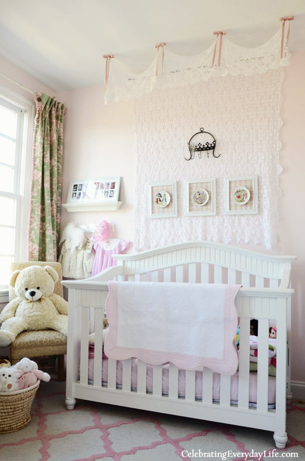 A Little Girl's Pink & Green Bedroom