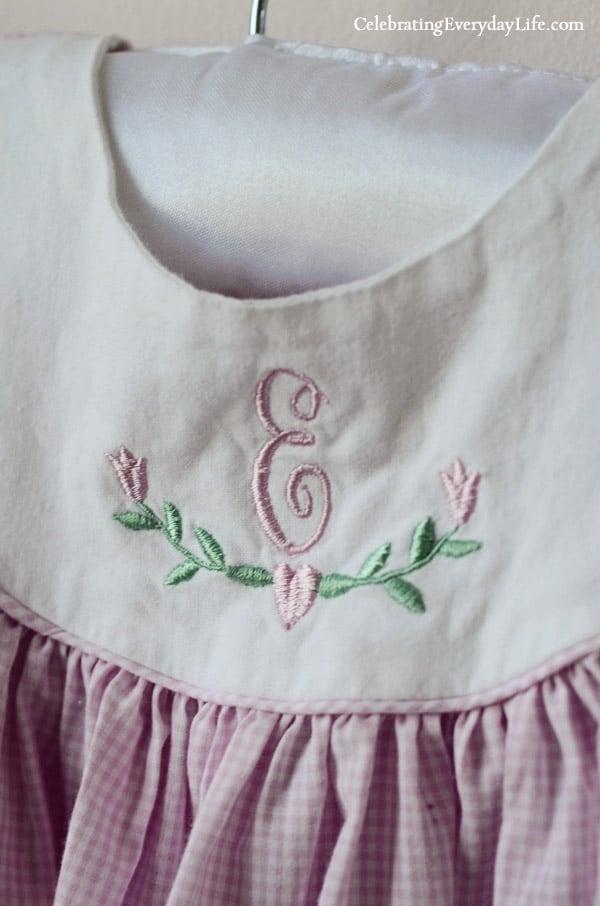 E monogrammed dress