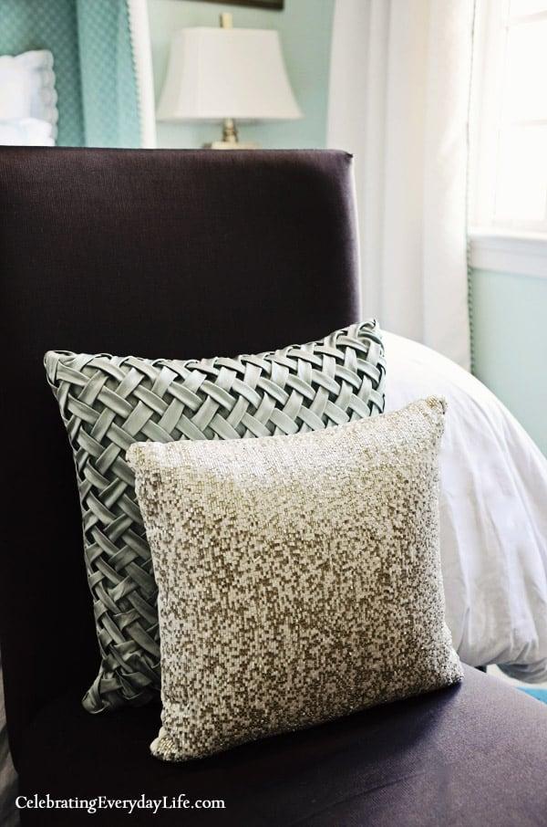 Target Pillows, Fieldcrest Lattice Pillow, Beaded pillow