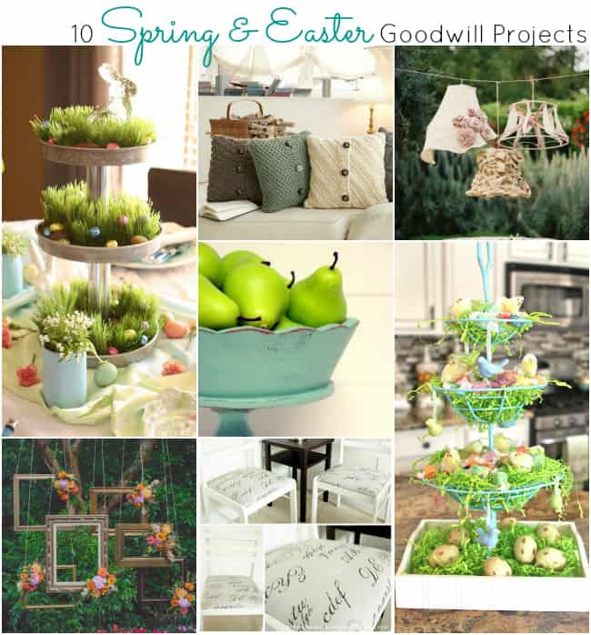 Spring and Easter Goodwill Projects from A Night Owl Blog
