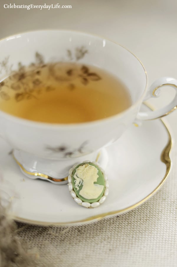 Tea Cup with Cameo