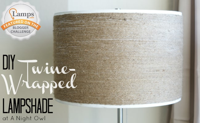 Twine Wrapped Lampshade project from A Night Owl blog