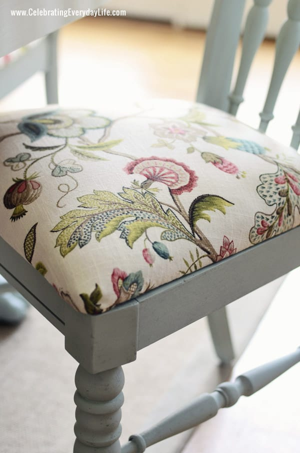 dining room chair in annie sloan chalk paint in duck egg and chair cushion in p - Dining Room Chair Cushions