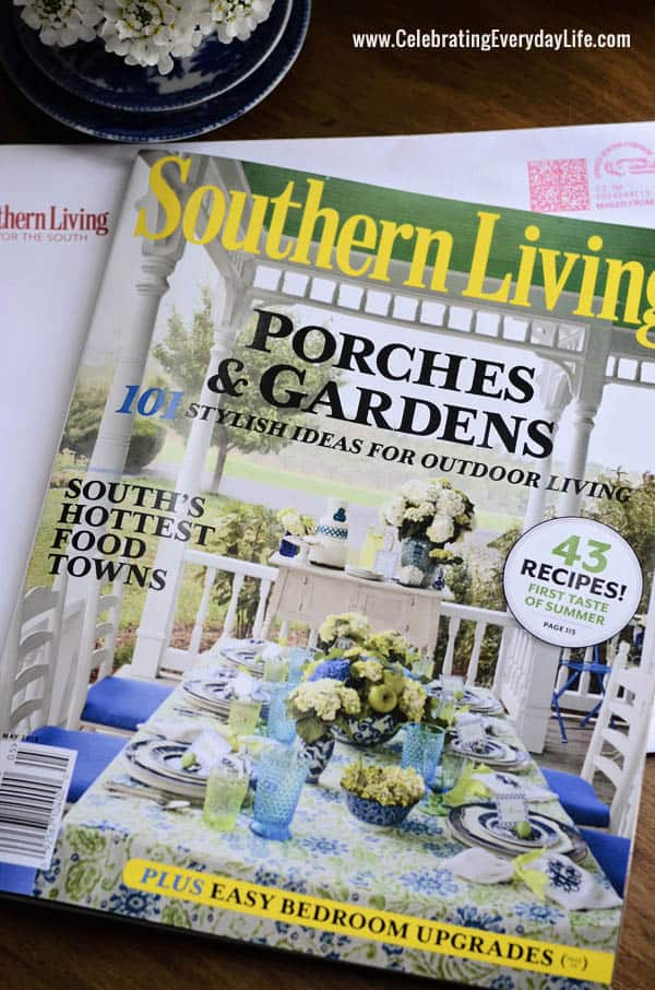 May 2013 Southern Living magazine, Porch feature, Jennifer Carroll