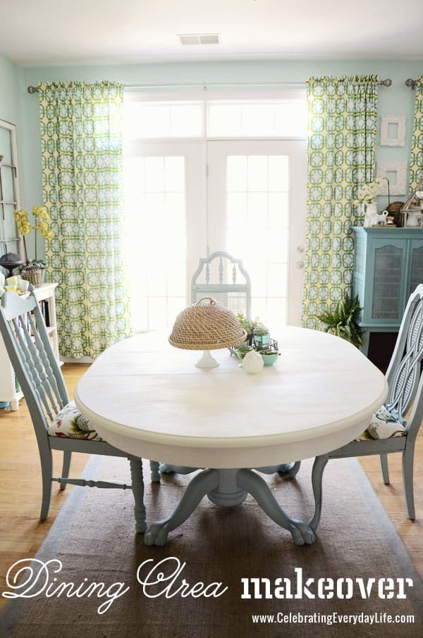 How To Save Tired Dining Room Chairs with Chalk Paint  : DiningArea1 from celebratingeverydaylife.com size 600 x 906 jpeg 159kB