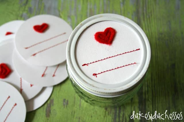 Stitched Mason Jar Labels