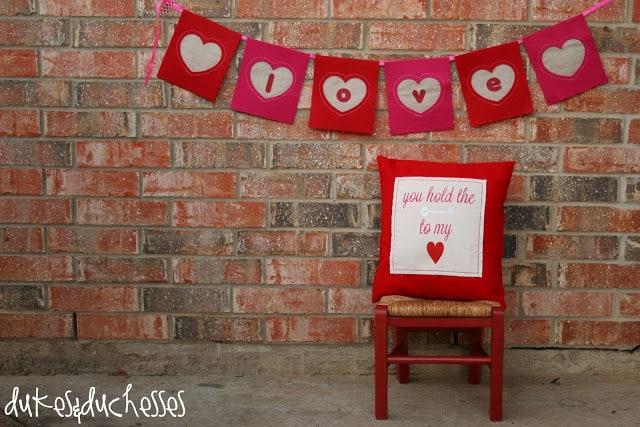 Valentine Banner from Dukes and Duchesses blog