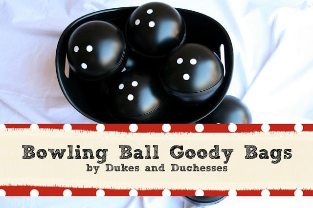 Bowling Ball Goody Bags from Dukes and Duchesses