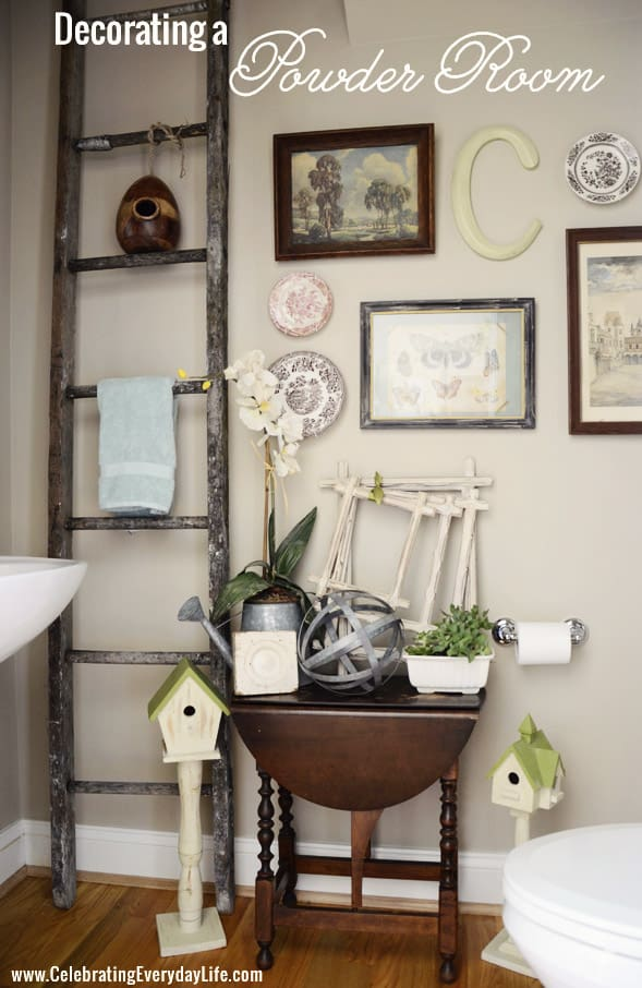 Decorating a Powder Room, Wall Collage