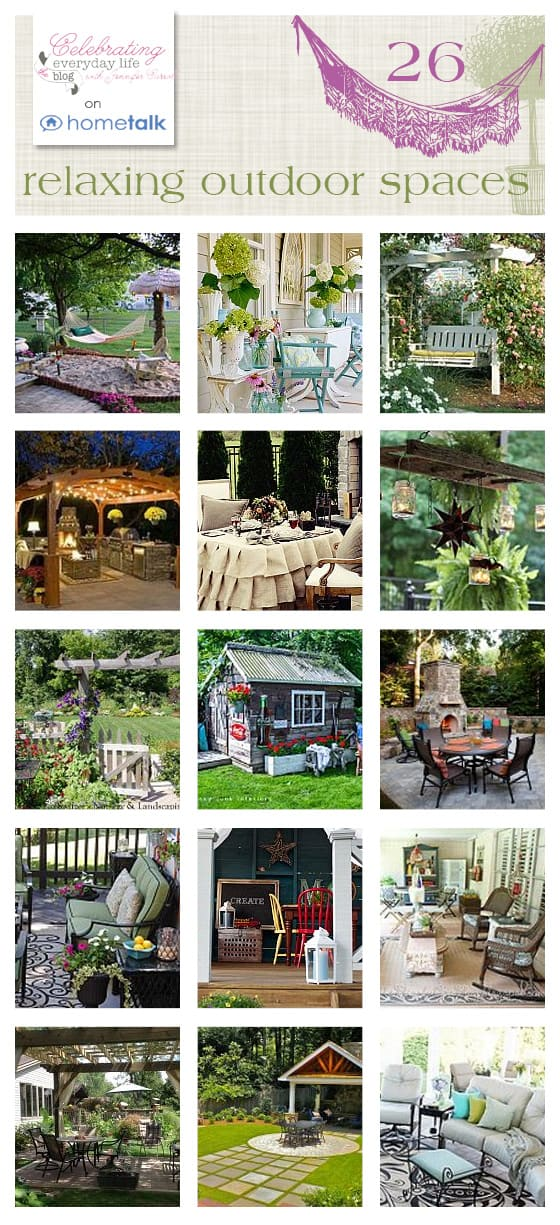 26 Relaxing Outdoor Spaces on HomeTalk picked by Celebrating Everyday Life