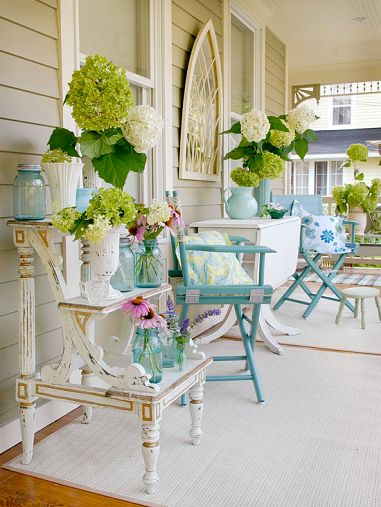 Cream and Blue Porch from Better Homes & Gardens