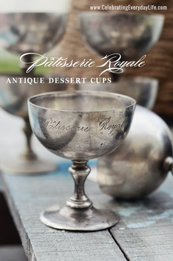 antique silver dessert cup Pâtisserie Royale