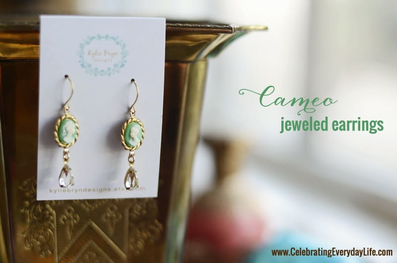 Cameo Earrings from Kylie Bryn Designs