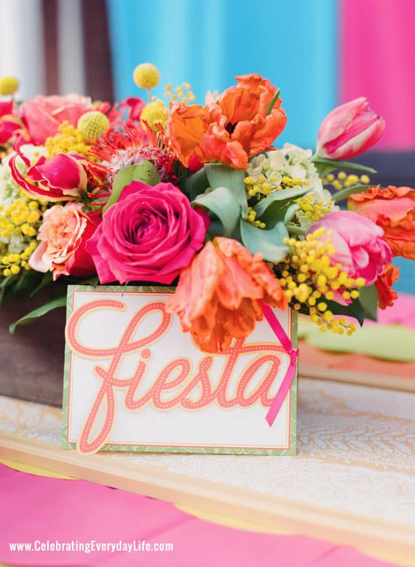 Fiesta Party Ideas, Cinco de Mayo party ideas, Bright colored party ideas, summer pool party ideas, Celebrating Everyday Life magazine
