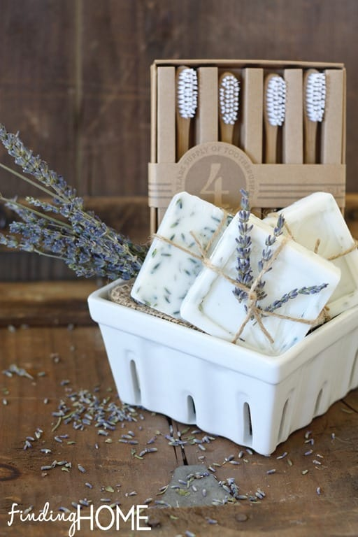 Homemade Goats Milk Gift Basket from Finding Home blog