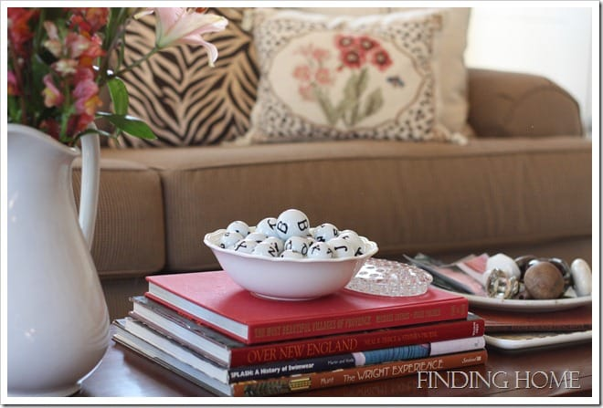 Living Room Coffee Table from Finding Home blog