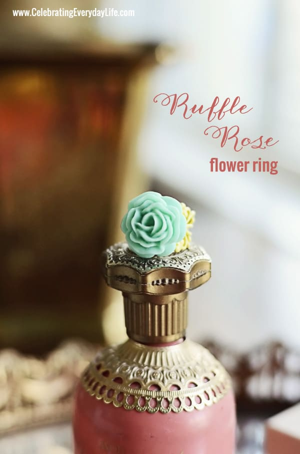 Ruffle Rose Ring from Kylie Bryn Designs