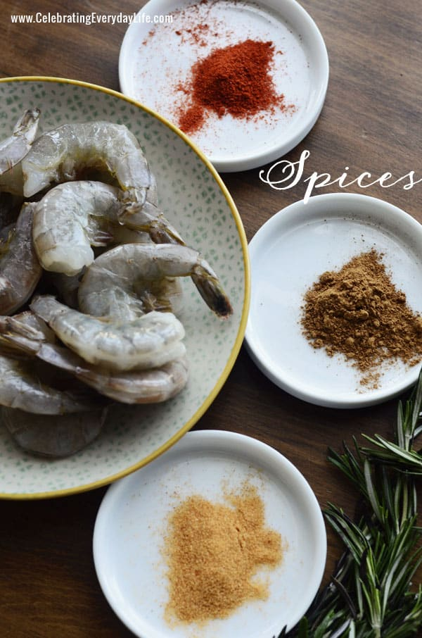 Spices for Grilled Shrimp on Rosemary Skewers from Celebrating Everyday Life blog