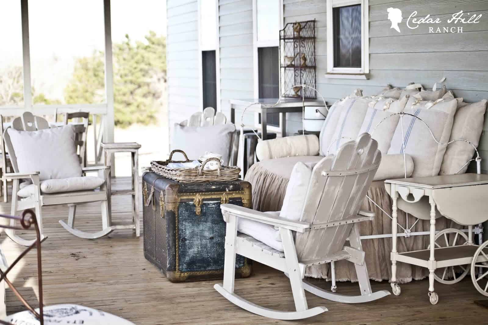 back porch from Cedar Hill Ranch blog