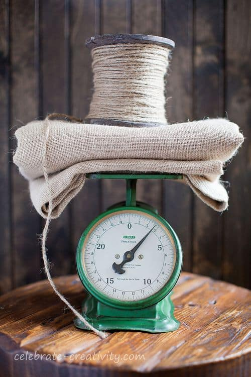 Vintage Green Kitchen Scale, photo prop ideas, Celebrate Creativity blog