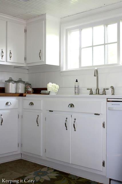 Keeping It Cozy, White Farmhouse Kitchen