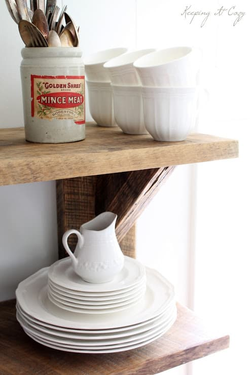 Keeping It Cozy blog, Reclaimed Wood Shelves