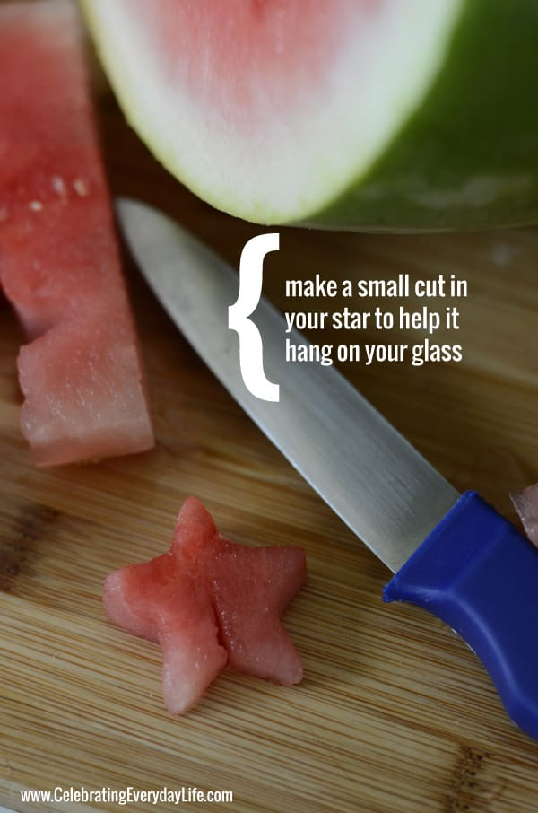 How to cut a star shaped watermelon garnish