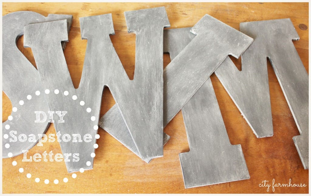 DIY Soapstone Letters from City Farmhouse blog