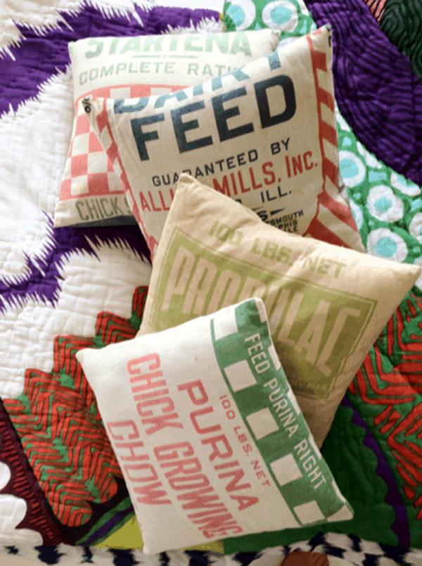 Purina Feed Sack Pillow, bömisch