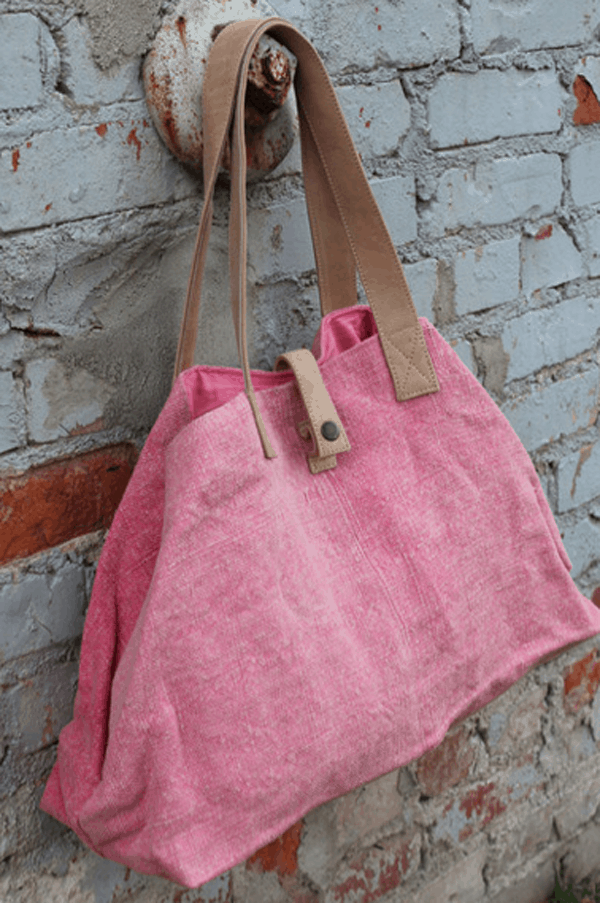 canvas & leather weekender bag for women from bomisch