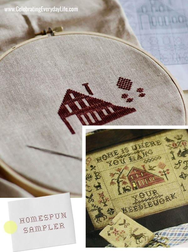 Homespun Elegance Sampler, Cross-stitch sampler