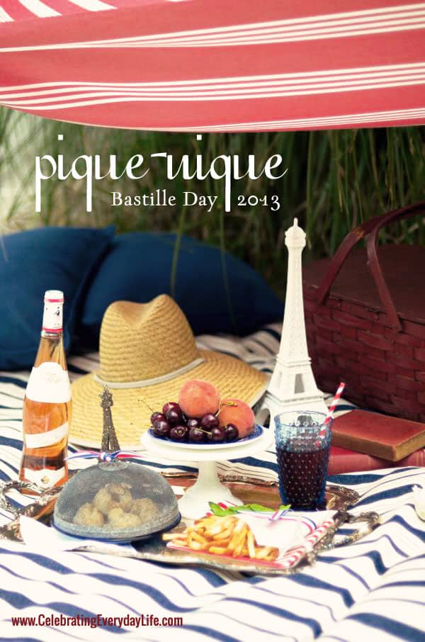 Bastille Day 2013, Bastille Day Picnic, French Picnic, Picnic Recipe, Ham and Brie en croute recipe, pommes frites