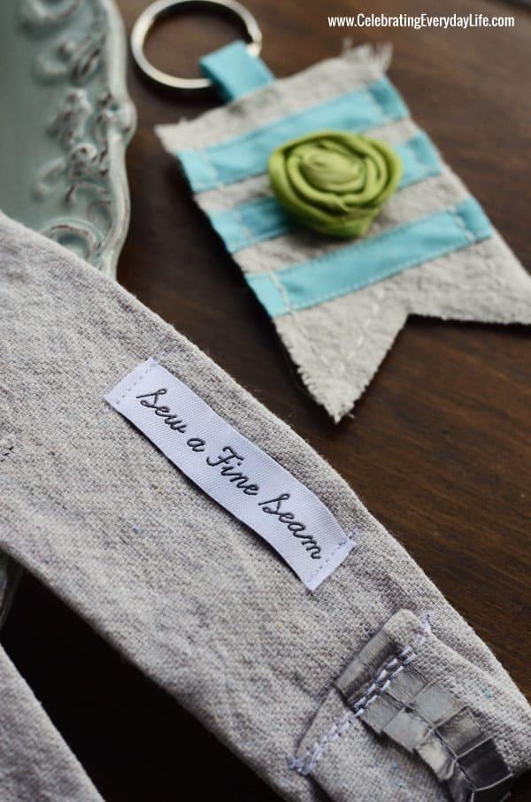 Sew A Fine Seam Dropcloth Camera Strap, monogrammed camera strap, dropcloth keychain