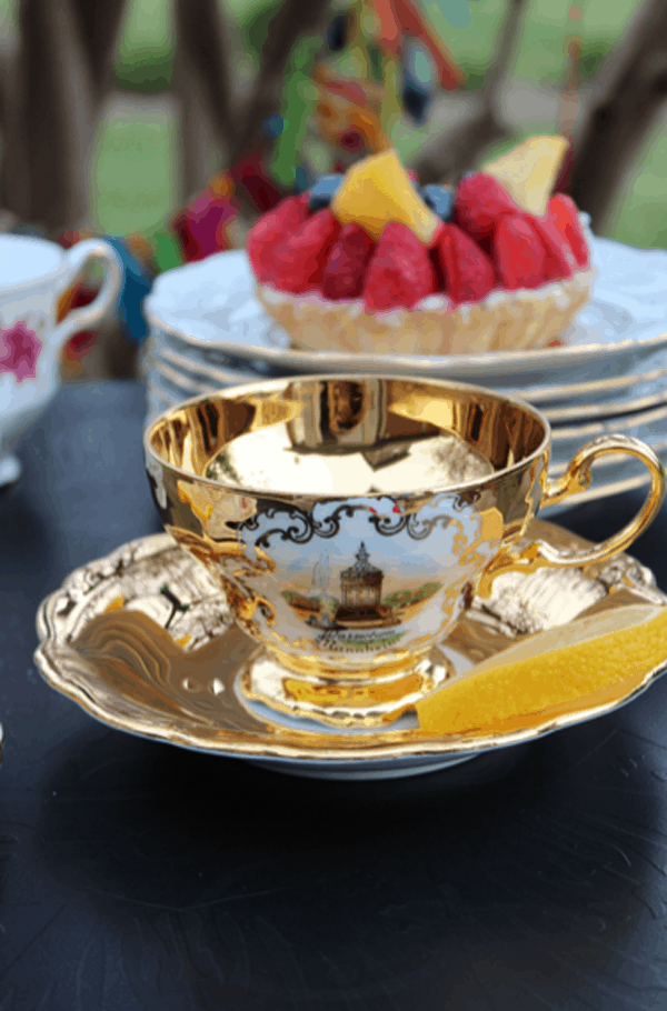 Gold Tea Cup and Saucer