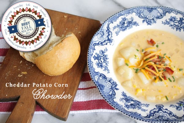 Cheddar Potato Corn chowder