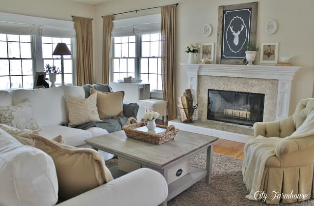 Family Room makeover from City Farmhouse blog