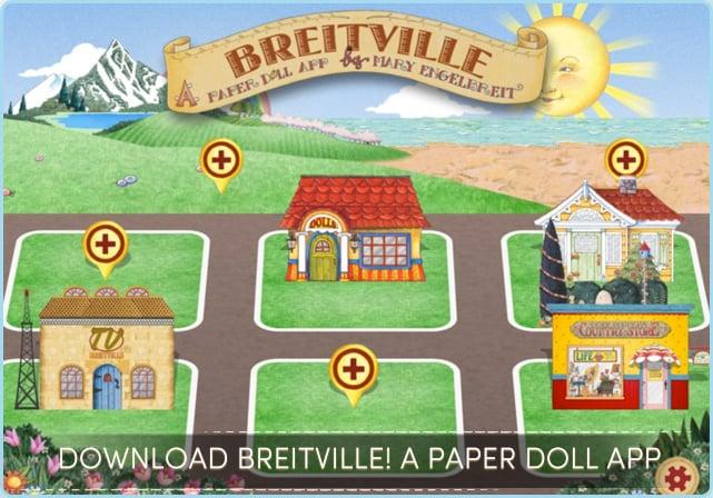 Mary Engelbreit's Breitville Paper Doll App