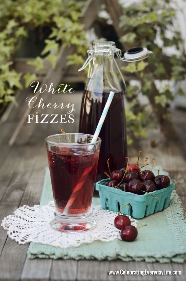 White Cherry Fizzes, Cherry Cocktail Recipe, Cherry Spritzer