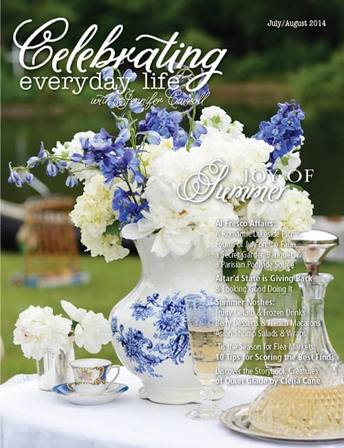 July August 2014 issue of Celebrating Everyday Life with Jennifer Carroll