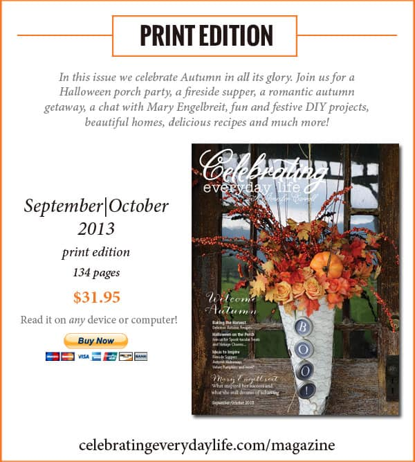 Purchase the Print edition of Celebrating Everyday Life with Jennifer Carroll September/October 2013