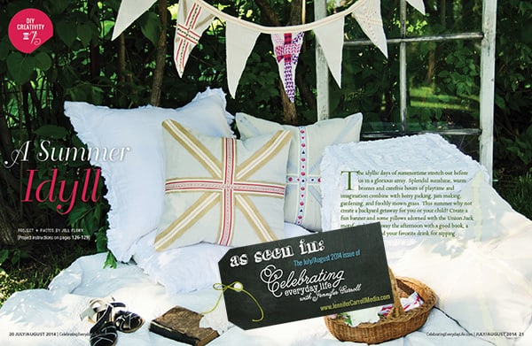 A Summer Idyll as seen in the July/August 2014 issue of Celebrating Everyday Life with Jennifer Carroll